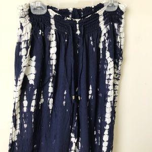 Pants - Tie Dye Boho Flowy Beach Pants